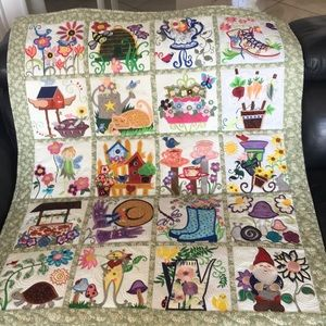 Spring quilt Wall hanging or Floor quilt